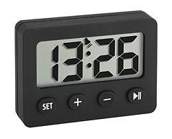 60.2014.01 La Crosse Technology TFA Digital Timer & Stopwatch Alarm Clock Black