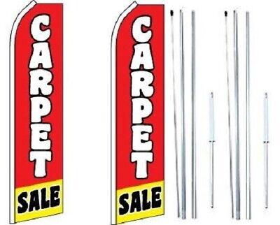 Carpet Sale Swooper Flag With Complete Hybrid Pole Set-pack Of 2