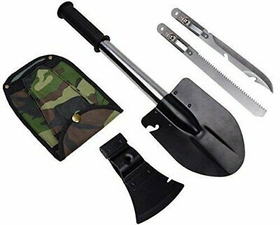 4 in 1 Emergency Camping Hiking Knife Shovel Axe Saw Gear Kit Tool Ultimate