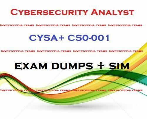 CYSA+ CS0-001 CompTIA Cybersecurity Analyst exam DUMPS question & simulator