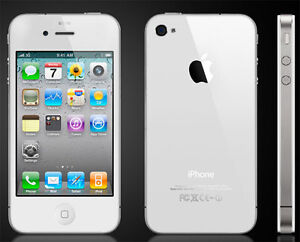WHITE IPHONE 4S 8GB CELL PHONE WORKS ALL WITH GEVEY SIM.