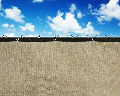 6x25ft Wheat Fence Windscreen Privacy Screen Shade Cover Fabric Mesh Garden Tarp