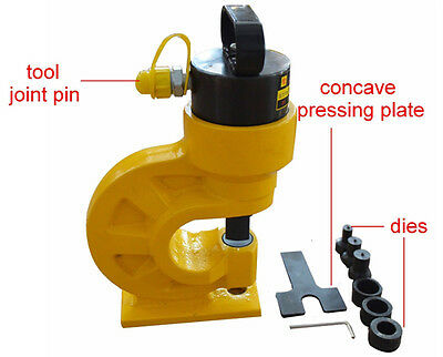 Hydraulic Hole Punching Tool Puncher 4 Dies Thickness Metal Copper L And H Type