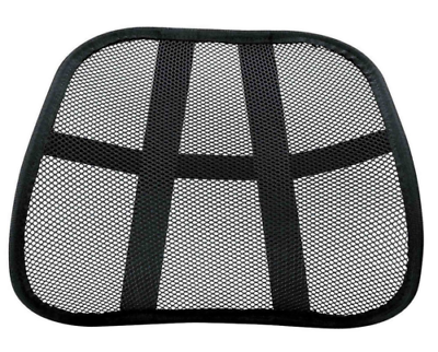 Dr Discovery Black Ergonomic 4.4MM Mesh BackRest Lumbar Back