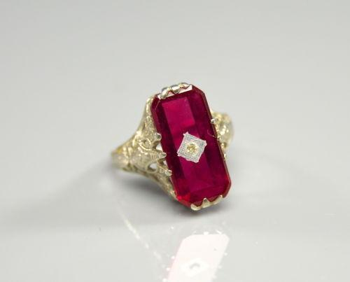 Antique Garnet Engagement Rings