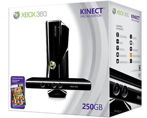 Microsoft  XBox 360 Console Bundle With Kinect & Games 250GB