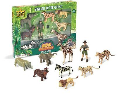 Wild Republic African Safari Animals Figures Set Animal Kids Eco Nature Zoo Toys