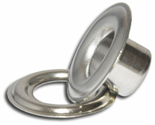 "500 # 3 (7/16"") Nickel Plated Self-Piercing Grommets & Washers, 500 Sets"