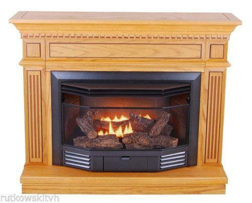 Vent Free Natural Gas Fireplace And Mantel