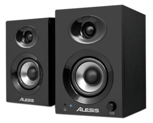 powered monitor speakers ebay. Black Bedroom Furniture Sets. Home Design Ideas