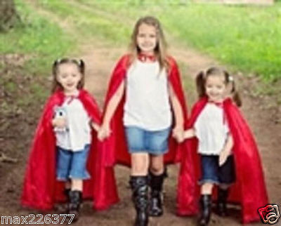 New Girl Child CAPE Halloween Costume little red riding hood princess devil - Little Red Riding Hood Costume Child