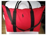 RALPH LAUREN RED/BLACK DUFFLE,HOLDALL,GYM,WEEKEND BAG Brand New