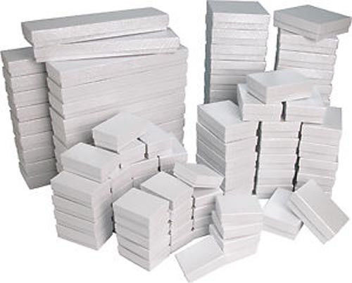 Jewelry - White Swirl Cotton Filled Gift Boxes Jewelry Cardboard Box Lots of 12~25~50~100