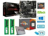 AMD RYZEN 5 2600 BUNDLE - 6 CORE - GIGABYTE A320M-S2H MOTHERBOARD - 16GB RAM