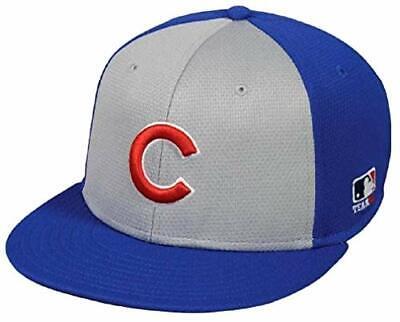 Chicago Cubs MLB OC Sports Colorblock Gray Blue Flat Brim Hat Cap Men Adjustable