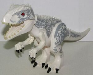 Lego White Indominus Rex Dinosaur Dino T-Rex from Jurassic World