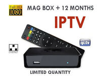 MAG 250 receiver with 12 months included IPTV CHANNELS HD Zgemma openbox skybox