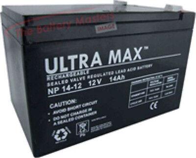 NP14-12 Ultramax 12v 14Ah Lead Acid Battery Y14-12, NP12-12, 12ah, 15ah