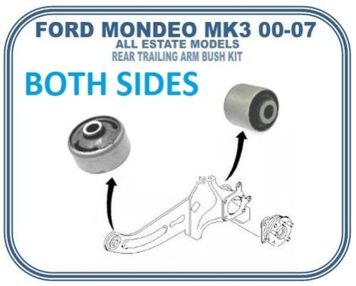 FOR FORD MONDEO MK3 ESTATE REAR TRAILING SUSPENSNION ARM FRONT and REAR BUSH KIT