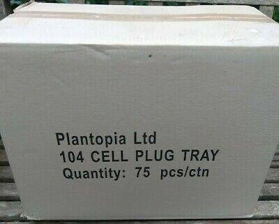 BOX 75 PLANTOPIA 104 MULTI CELL PLUG TRAYS PROPAGATION SEED HYDROPONICS FREE P+P