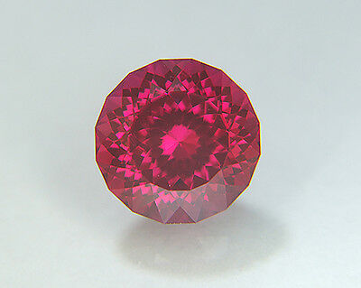 Ruby. Lab Grown Round Portuguese Cut.12.45mm. 8.39cts Competition Cutting.....