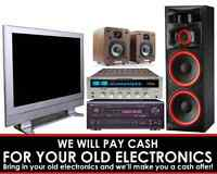 We Pay CASH For Electronics!