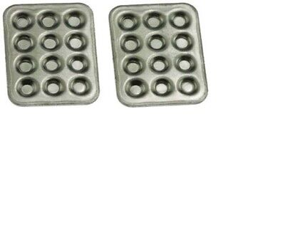 Dollhouse Miniatures 1:12 Scale Muffin Pans 2/Pc #IM65473 ()