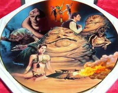 Star Wars Jabba the Hutt Heroes Villains Plate Hamilton