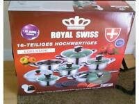 Royal Swiss 16pc Saucepan set