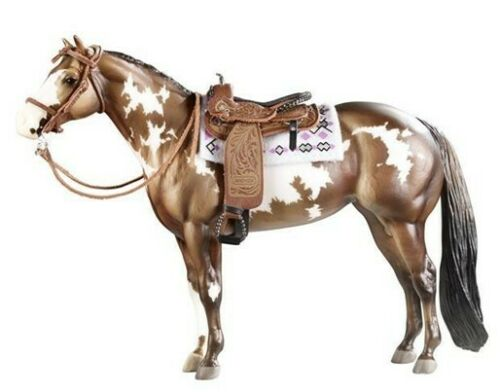 BREYER CIMARRON WESTERN PLEASURE SADDLE & WESTERN SHOW BRIDLE SET, SADDLE PAD