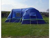 Used Once - Berghaus Air Inflatable 8 Man Tent and Air Porch
