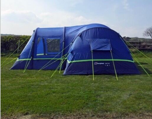Used Once - Berghaus Air Inflatable 8 Man Tent and Air Porch and main tent carpet : berghaus tent - memphite.com