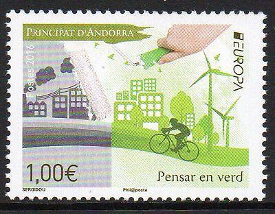 """Andorra franz. Mi. 804** """"EUROPA - Think Green"""" aus 2016"""