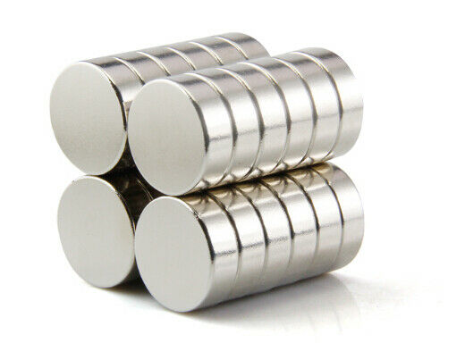 Neodym Magnete super stark Scheiben Würfel N35 N45 N50 doppelt vernickelt Scheibe - Ø 7 X 2mm