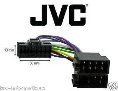 Cable Adaptador Iso Autorradio JVC KD-G331 KD-G332 KD-G333 KD-G340 KD-G351