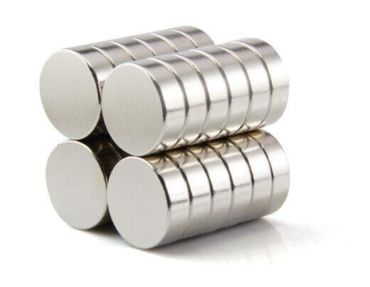 Neodym Magnete super stark Scheiben Würfel N35 N45 N50 doppelt vernickelt Scheibe - Ø 14 X 5mm