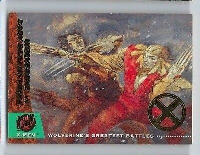 2018 Fleer Ultra X-men 1994 buyback 149 Wolverine vs. Lady Deathstrike 12/50