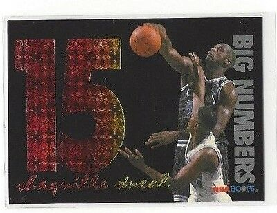 Rain Bow Magic (1994-95 HOOPS BASKETBALL BIG NUMBERS RAINBOW SHAQUILLE O'NEAL #BN5 -)