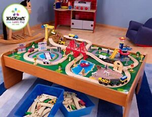 New KidKraft 17836 Ride Around Train Set and Table