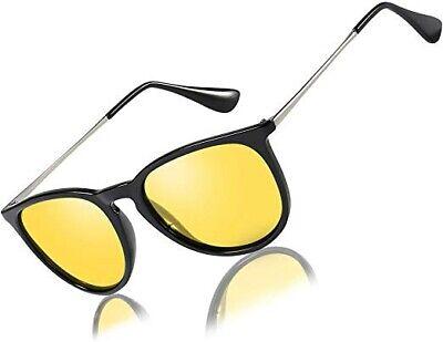 Bircen 4171 Driving Polarized HD Night Driving Glasses 54-27-149 (Yellow Polarized Glasses)