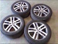 "GENUINE ORIGINAL VW GOLF JETTA SCIROCCO MK5 MK6 MK7 16"" ALLOY WHEELS WITH GOOD TYRES"