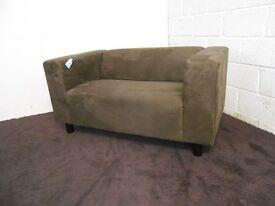 Ex Display Brown Cube Sofa