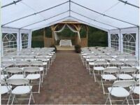 RENT TODAY tents, tables, chairs, speakers for a good price
