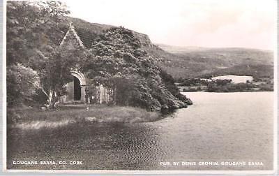 Gougane Barra, Co Cork, Ireland - church, lake - local RP postcard (Cronin)