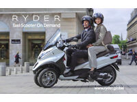 Make average 15£/drop off driving your scooter with Ryder Global