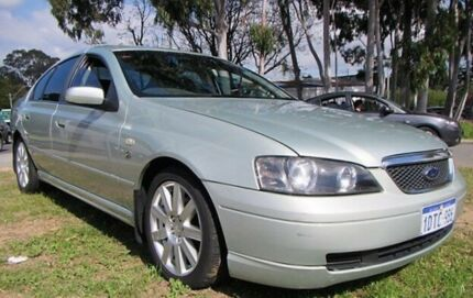 2003 Ford Fairmont BA Ghia Ice Mint Silver 4 Speed Auto Seq Sportshift Sedan Mount Lawley Stirling Area Preview