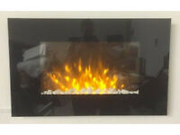 Electric remote control wall mounted glass fire