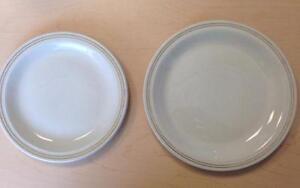ABP Express - Lot assiette blanche avec bordure OR - MÉGA VENTE