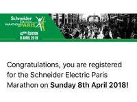 Paris Marathon 8th April £75 ONO