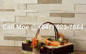 Coco Travertine 3D Espace Wall Cladding Fireplace Stone Veneer